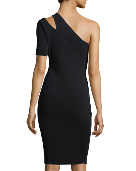 One-Shoulder Sliced Cocktail Dress