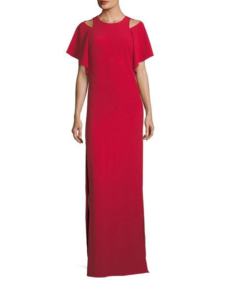 Flowy Cutout Column Gown