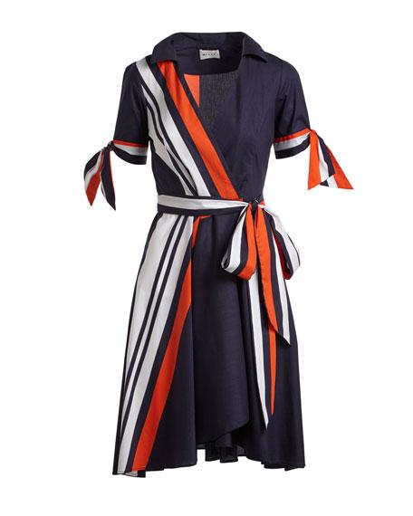 Valerie Stretch-Poplin Midi Wrap Dress