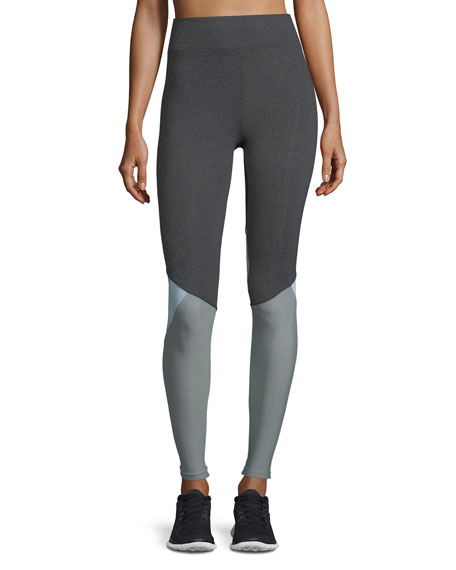 Tracking Colorblocked Performance Leggings with Mesh Inserts