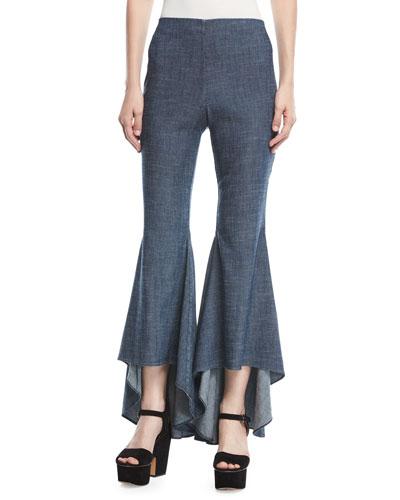 Jinny High-Low Flare-Leg Pants
