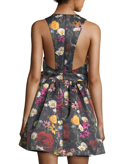Daralee Sleeveless Bow-Front Party Dress
