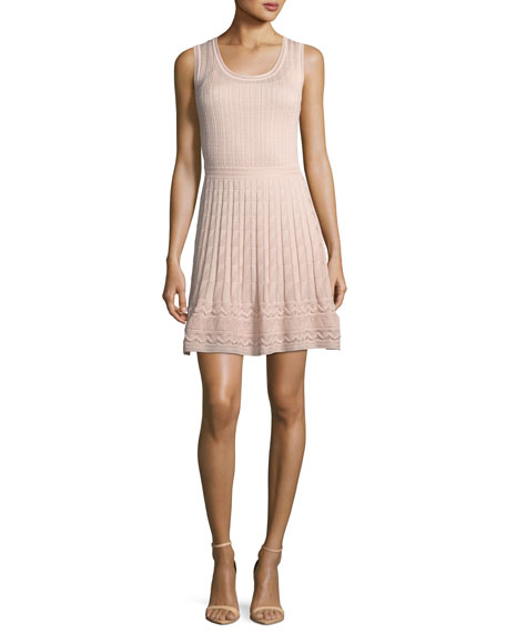Cable-Knit Sleeveless Dress