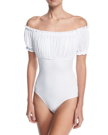Empire Jose Mio Off-the-Shoulder One-Piece Swimsuit