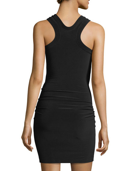 Front-Tie Racerback Fitted Mini Coverup Dress