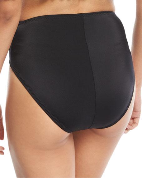 High-Waist Full-Seat Underwire Swim Bikini Bottom