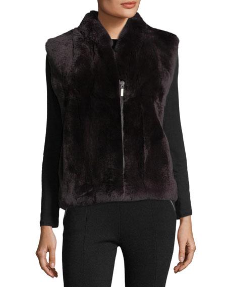 Zip-Front Fur Vest
