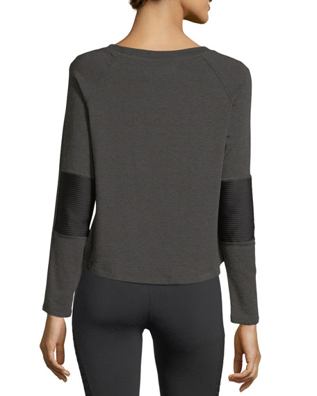 Easy Rider Moto Fleece Pullover Top