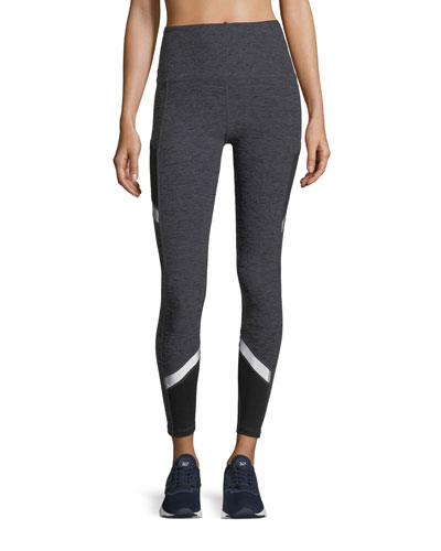 Space-Dye Refraction High-Waist Full-Length Performance Leggings