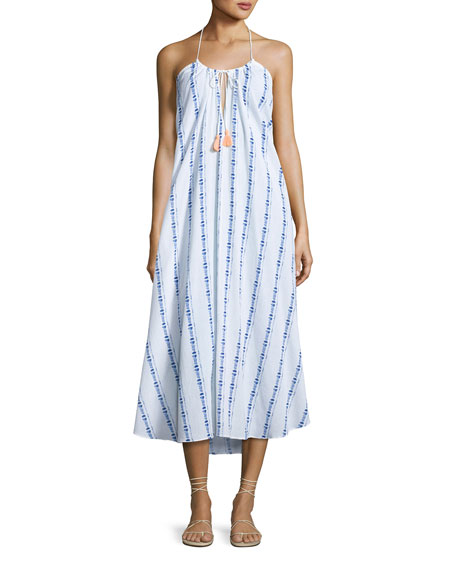 Folly Island Tassel-Tie Maxi Dress, White