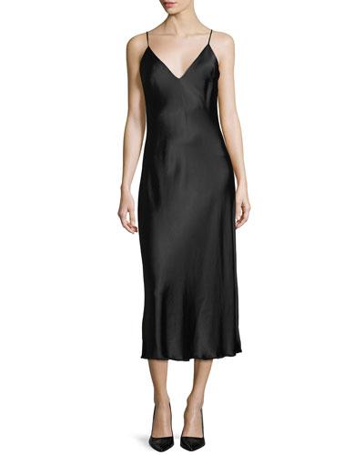 Satin Tank Midi Dress