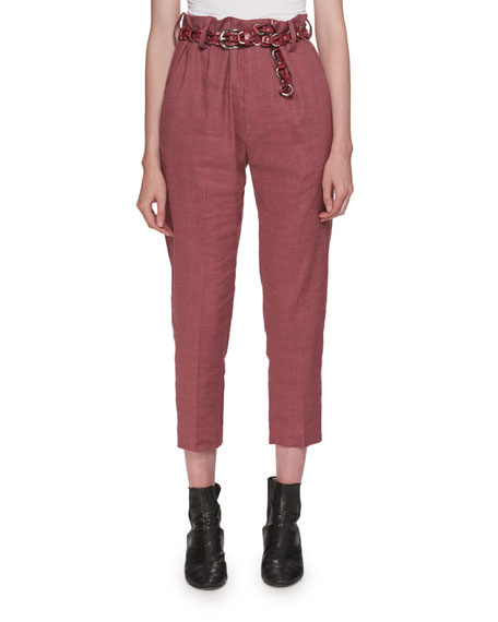 Oah Rosewood City High-Waist Cropped Pants