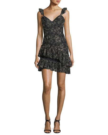 Enid V-Neck Sleeveless Embroidered Mini Dress