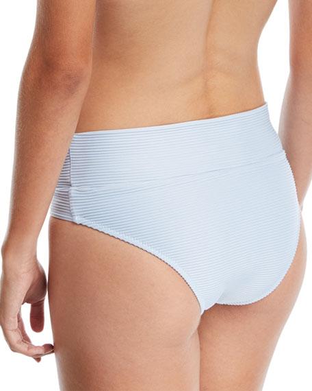 Pintucked Fold-over Swim Bottom