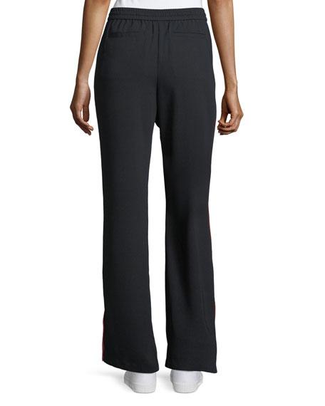 Perlyn Wide-Leg Pants Side-Stripe Pull-On Pants