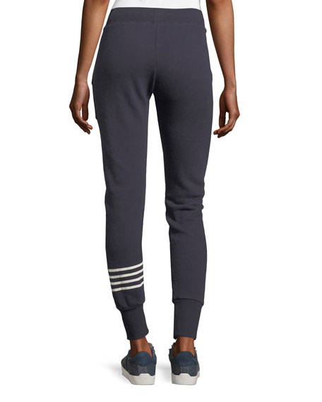 Tendra Drawstring Jogger Pants w/ Stripe Panel