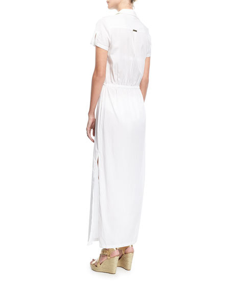 Maine Maxi Shirtdress Coverup