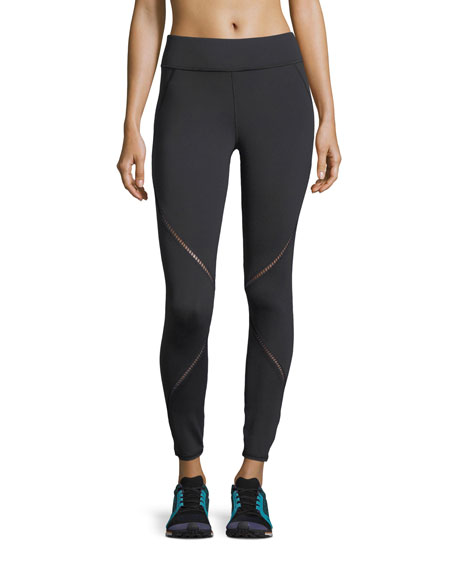 Axial Full-Length Performance Leggings with Ladder Trim