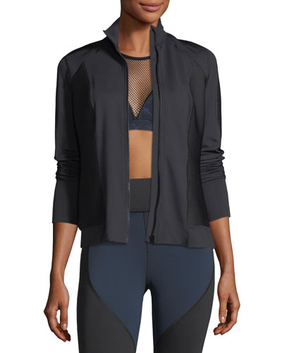 Ignite Mock-Neck Zip-Front Performance Jacket
