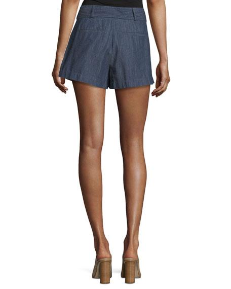 Pike Chambray Cotton Shorts