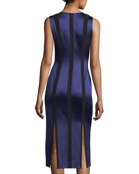 Sleeveless Tailored Paneled Dress