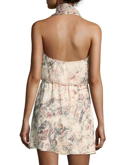 Ginny Printed Halter Mini Dress
