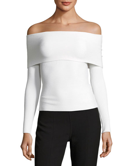 Clara Off-the-Shoulder Long-Sleeve Top