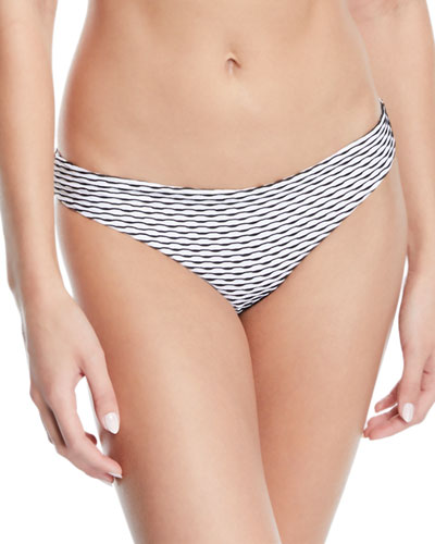 Lily Wave-Stripe Hipster Bikini Bottom