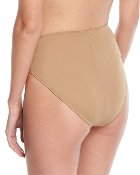 Underwire High-Waist High-Cut Swim Bottoms