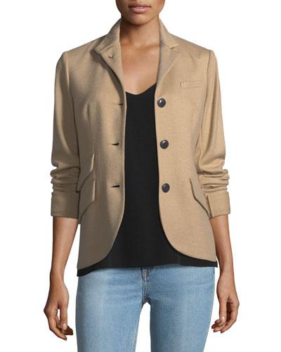 Slade 3-Button Wool Tailored Blazer