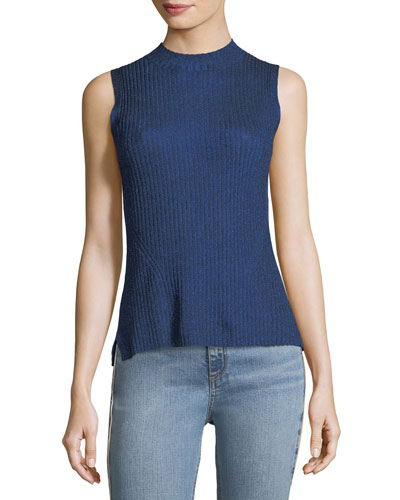 Halsey Ribbed Sleeveless Tank