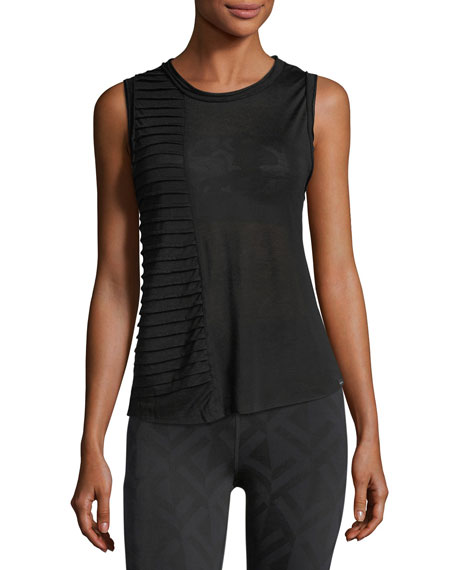 Parallax Crewneck Pintucked Performance Tank