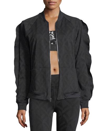 Glance Jacquard Bomber Jacket