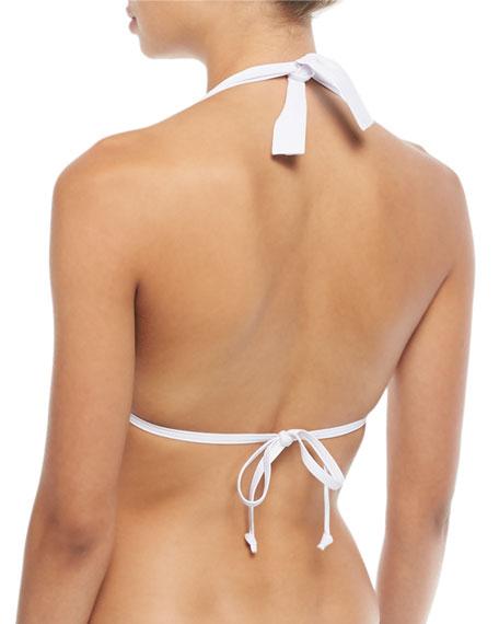 Banded Halter Bikini Swim Top