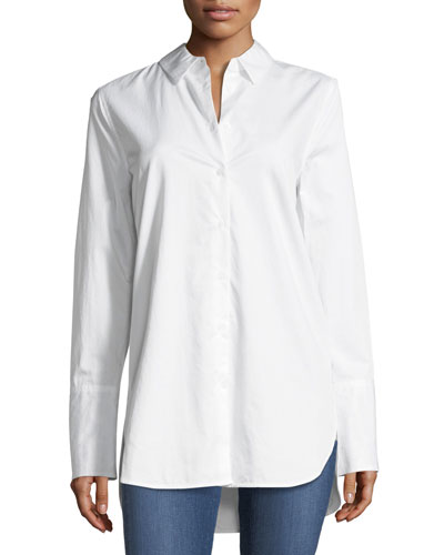 Arlette Button-Front Cotton Shirt