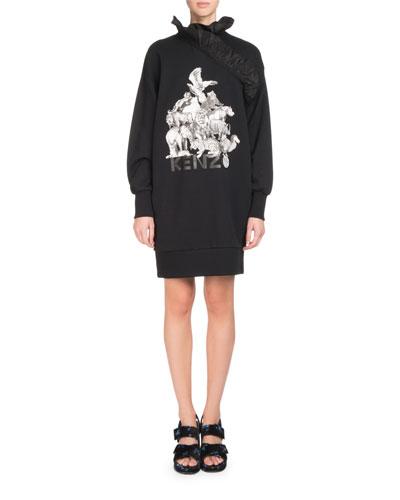 La Collection Memento N°1 Ruffle-Trim Logo Dress