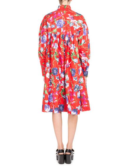 La Collection Memento N°1 Floral-Print Empire Dress