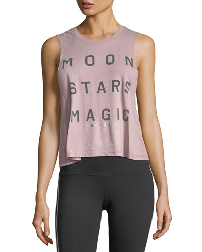 Moon Stars Magic Crop Tank