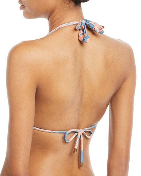 Margarita Bia Floral-Print Halter Swim Top