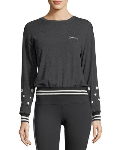Savasana Dreamer Script Pullover Sweatshirt