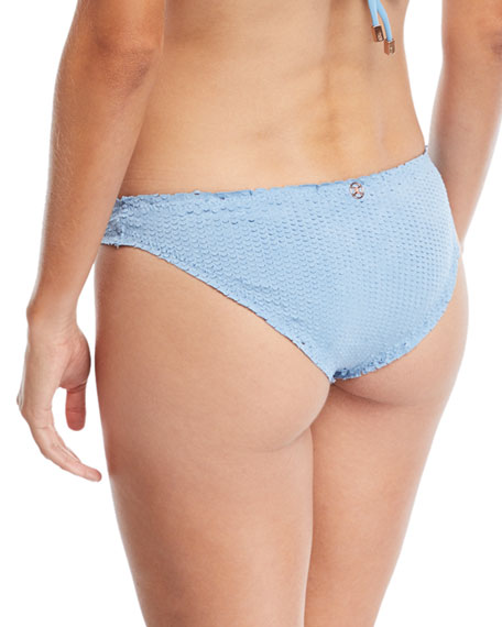 Basic Hipster Swim Bikini Bottom, Cloud Scales