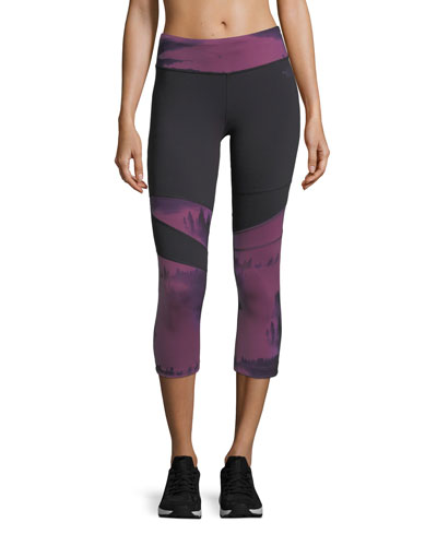 Motivation Printed Crop Sport Leggings