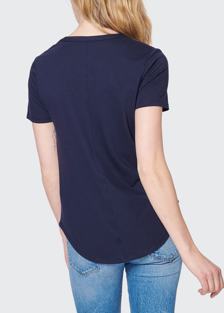 Cindy V-Neck High Low Tee