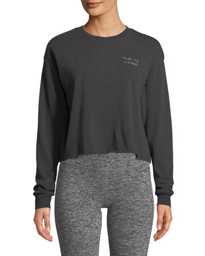 Trust Stitch Crewneck Crop Sweatshirt