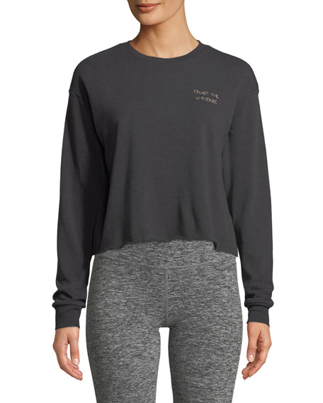 Trust Stitch Crewneck Crop Sweatshirt