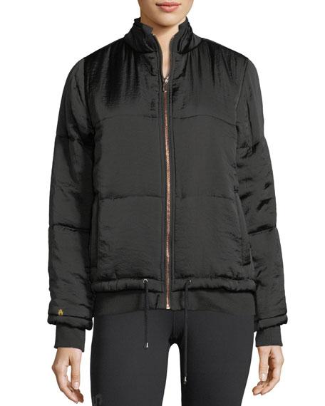 Wild Moon Zip-Front Bomber Jacket