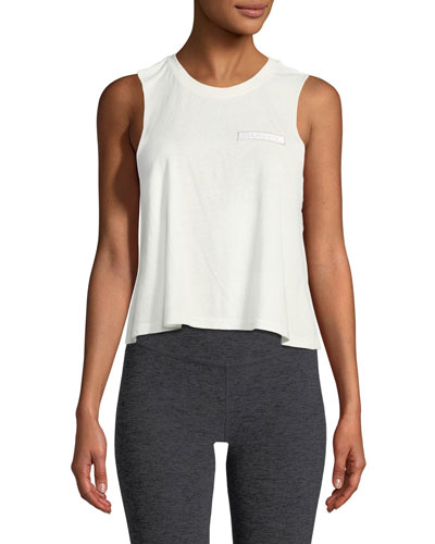 Hamsa Night Graphic Crop Tank