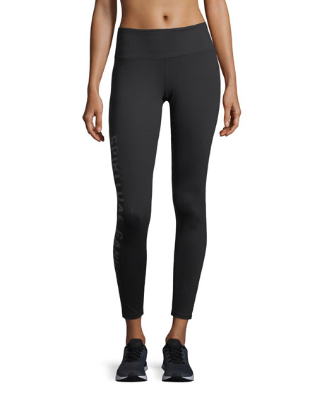 Side-Logo 7/8 Jersey Leggings