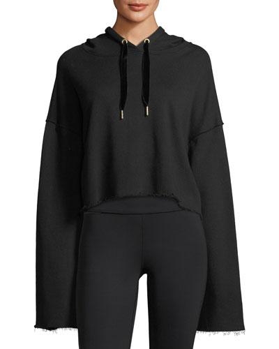 Stance Bell-Sleeve Cropped Hoodie Sweatshirt