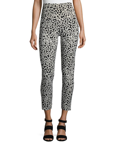Squiggle-Print Sport Leggings